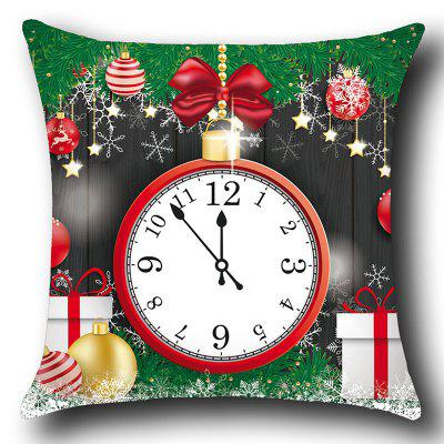 Christmas Clock and Baubles Pattern Decorative Pillow Case handpainted peacock and leaf pattern pillow case