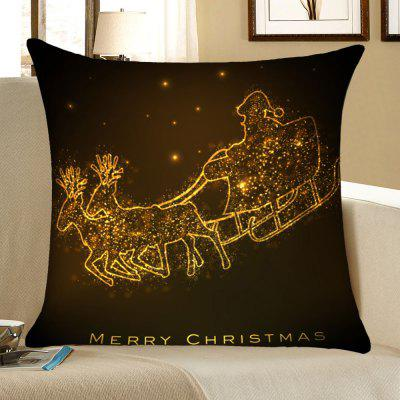 Christmas Golden Carriage Pattern Decorative Pillow Case