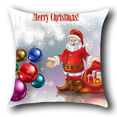 Father Christmas and Baubles Pattern Decorative Pillow Case handpainted peacock and leaf pattern pillow case