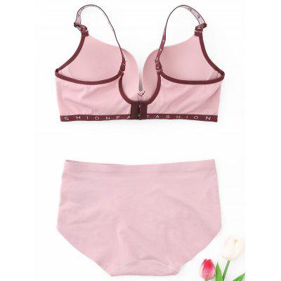 Seamless Sports Bra SetLingerie &amp; Shapewear<br>Seamless Sports Bra Set<br><br>Bra Style: Seamless<br>Closure Style: Two Hook-and-eye<br>Cup Shape: Three Quarters(3/4 Cup)<br>Embellishment: None<br>Materials: Nylon, Spandex<br>Package Contents: 1 x Bra  1 x Panties<br>Pattern Type: Letter<br>Strap Type: Adjusted-straps<br>Style: Everyday<br>Support Type: Wire Free<br>Weight: 0.2000kg