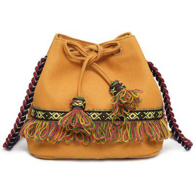 Tassel Full Color String Crossbody Bag