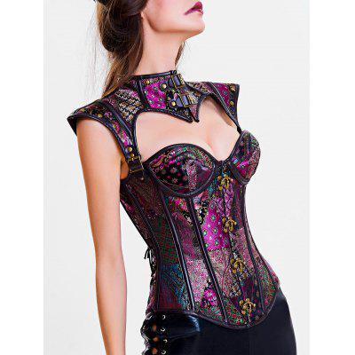 Cut Out Steel Boned Corset TopLingerie &amp; Shapewear<br>Cut Out Steel Boned Corset Top<br><br>Embellishment: Button,Hollow Out<br>Material: Polyester<br>Package Contents: 1 x Corset<br>Pattern Type: Solid<br>Weight: 0.4500kg