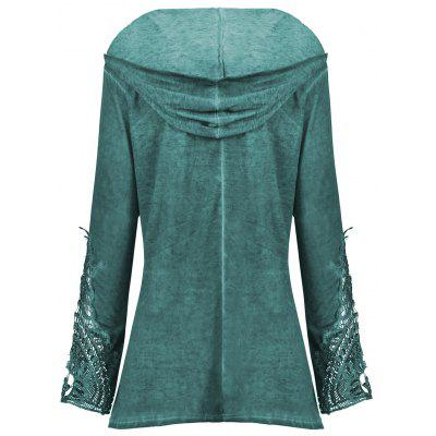 Crochet Panel Plus Size HoodiePlus Size Tops<br>Crochet Panel Plus Size Hoodie<br><br>Material: Polyester, Spandex<br>Package Contents: 1 x Hoodie<br>Pattern Style: Solid<br>Season: Fall, Spring<br>Shirt Length: Regular<br>Sleeve Length: Full<br>Style: Fashion<br>Weight: 0.4200kg