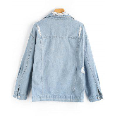 Button Up Lace Up Distressed Denim JacketJackets &amp; Coats<br>Button Up Lace Up Distressed Denim Jacket<br><br>Clothes Type: Jackets<br>Collar: Shirt Collar<br>Material: Jeans, Polyester<br>Package Contents: 1 x Jacket<br>Pattern Type: Solid<br>Shirt Length: Regular<br>Sleeve Length: Full<br>Style: Fashion<br>Type: Wide-waisted<br>Weight: 0.8500kg