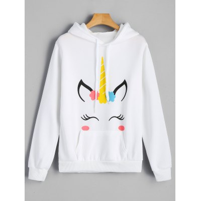 Graphic Fleece Kangaroo Pocket Hoodie