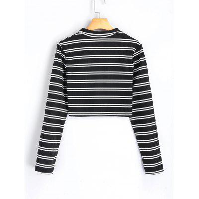High Neck Half Zip Striped Knit TopSweaters &amp; Cardigans<br>High Neck Half Zip Striped Knit Top<br><br>Collar: High Collar<br>Material: Polyester<br>Package Contents: 1 x Knitwear<br>Sleeve Length: Full<br>Style: Casual<br>Type: Pullovers<br>Weight: 0.2500kg