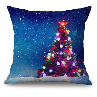Christmas Tree Decorative Thick Throw Pillowcase