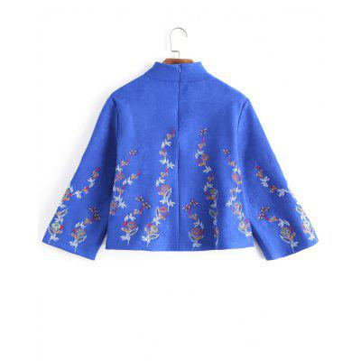 Embroidered Faux Sude Loose SweatshirtSweatshirts &amp; Hoodies<br>Embroidered Faux Sude Loose Sweatshirt<br><br>Clothing Style: Sweatshirt<br>Material: Cotton, Faux Leather, Polyester<br>Package Contents: 1 x Sweatshirt<br>Pattern Style: Others<br>Shirt Length: Regular<br>Sleeve Length: Full<br>Weight: 0.4550kg