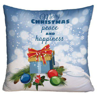 Christmas Gift Box Print Throw Pillowcase