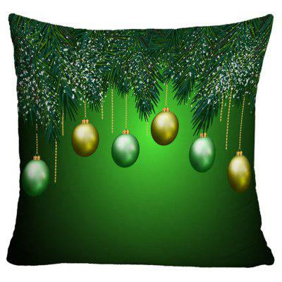Christmas Balls Printed Decorative Pillowcase