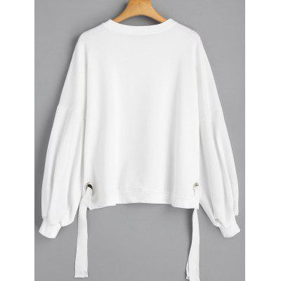 Ring Embellished Puff Sleeve SweatshirtSweatshirts &amp; Hoodies<br>Ring Embellished Puff Sleeve Sweatshirt<br><br>Clothing Style: Sweatshirt<br>Material: Polyester<br>Package Contents: 1 x Sweatshirt<br>Pattern Style: Solid<br>Shirt Length: Regular<br>Sleeve Length: Full<br>Weight: 0.5300kg