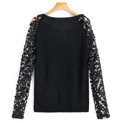 Crew Neck Lace Sleeve SweaterSweaters &amp; Cardigans<br>Crew Neck Lace Sleeve Sweater<br><br>Collar: Crew Neck<br>Material: Cotton, Polyester<br>Package Contents: 1 x Sweater<br>Pattern Type: Solid<br>Sleeve Length: Full<br>Style: Fashion<br>Type: Pullovers<br>Weight: 0.2500kg