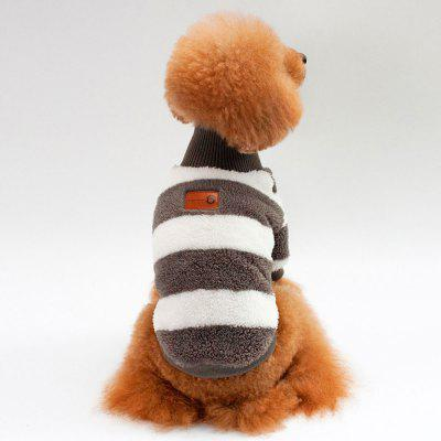Coral Fleece Striped Turtleneck Clothes for Dog