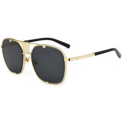 Outdoor Metal Frame Hollow Out Decorated Polit Sunglasses