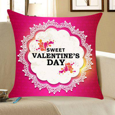 Valentine's Day Flowers Pattern Throw Pillow Case