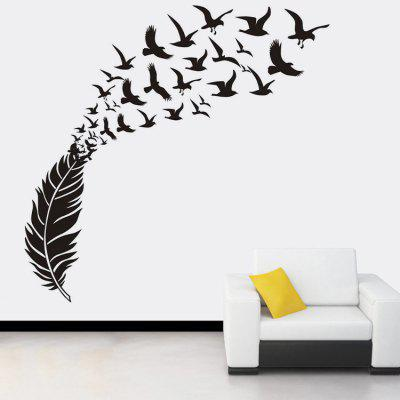 Feather Doves Pattern Wall Stickers For Living Room
