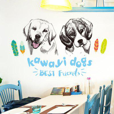 Cute Dogs Wall Art Stickers For Living Room