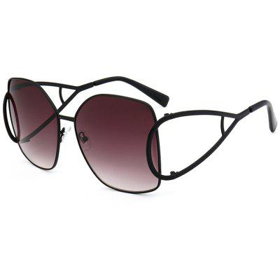 Outdoor Hollow Out Embellished Oversized Sunglasses