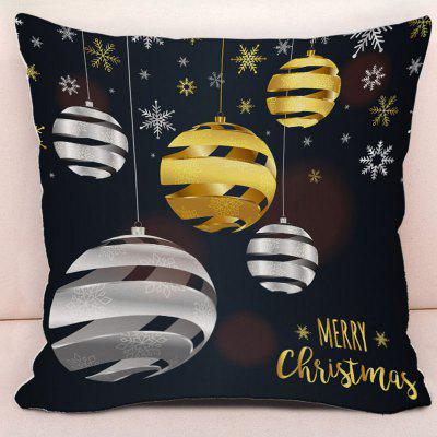Merry Christmas Snowflake Ball Printed Pillowcase