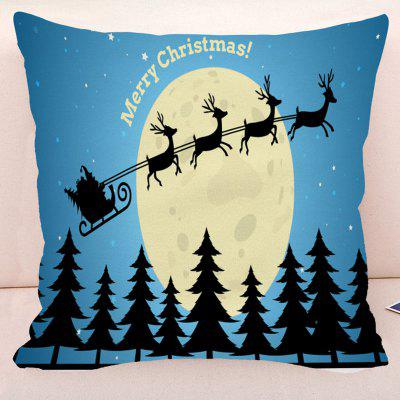 Merry Christmas Deer Pillow Case