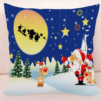 Christmas Deer Santa Star Pillow Case
