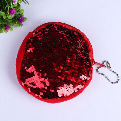 Glitter Sequins Zipper Round Coins Purse