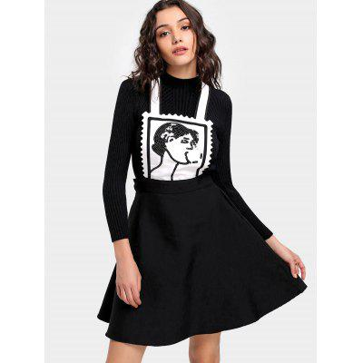 Sequined A Line Pinafore Dress