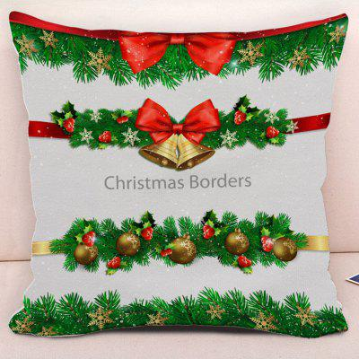 Christmas Bows Bells Snowflake Pillow Case