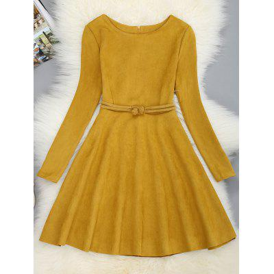 Mini Long Sleeve Fit and Flare Dress