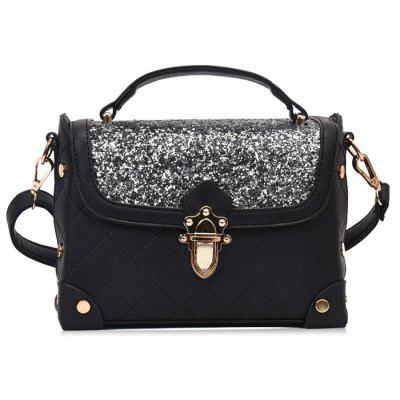 Sequined Rivets Quilted Crossbody Bag