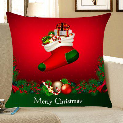 Christmas Socks Gifts Pattern Throw Pillow Case