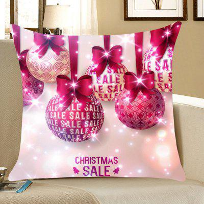 Christmas Bowknot Balls Pattern Throw Pillow Case