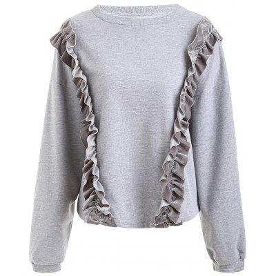 Double Ruffle Plus Size Long Sleeve Sweatshirt