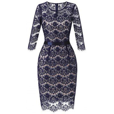 Lace Crochet Bodycon Dress