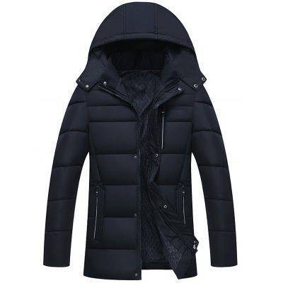 Full Zip Detachable Hood Padded Coat