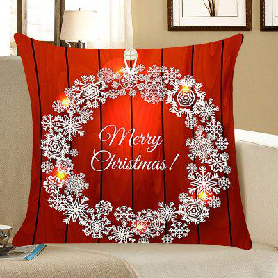 Buy Christmas Snows Wreath Pattern Decorative Pillow Case, RED, Home & Garden, Home Textile, Bedding, Pillow for $4.42 in GearBest store