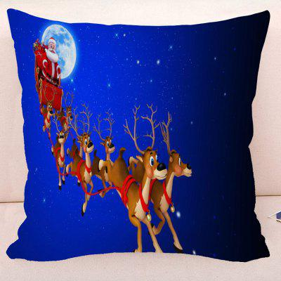 Reindeer Christmas Santa Starry Sky Pillowcase