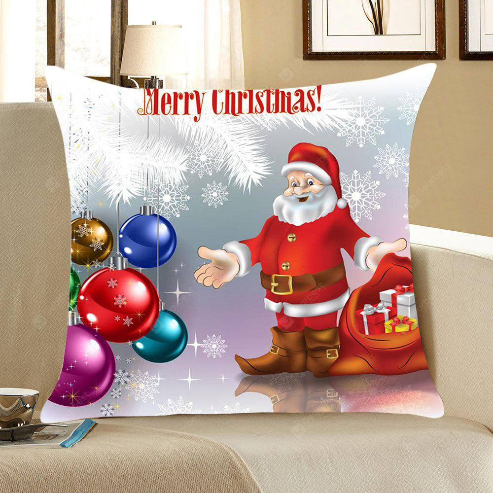 Father Christmas and Baubles Pattern Decorative Pillow Case