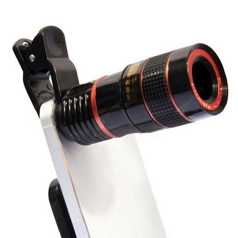 Universal 8X Optical Zoom Telescope Camera Lens Clip Mobile Phone Telescope