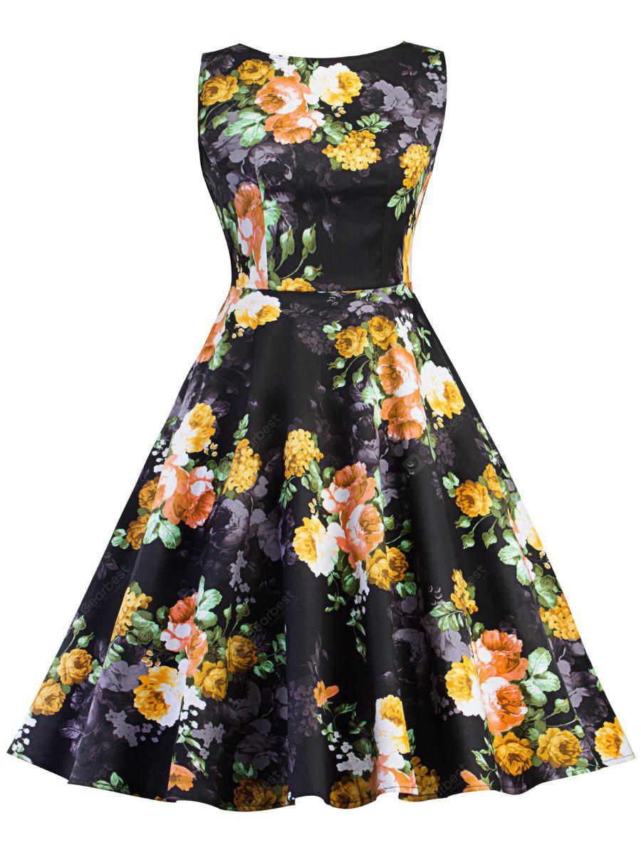 Robe patineuse Vintage Pin Up Floral