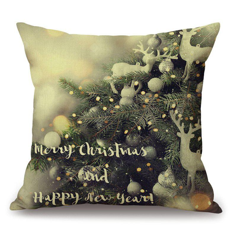 Christmas Graphic Decorative Thick Throw Pillowcase