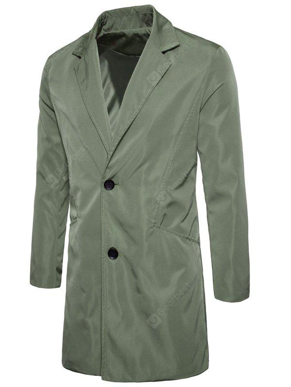 Lapel Single Breasted Polyester Longline Coat