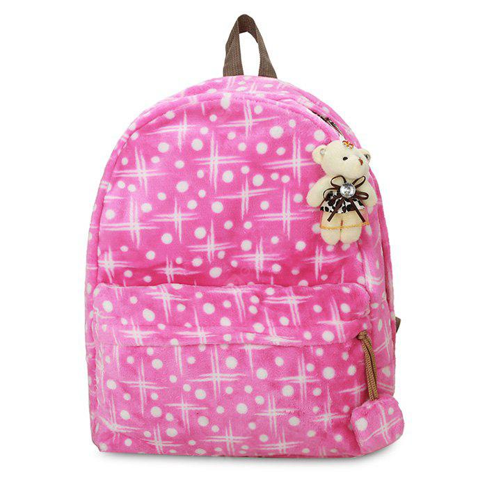 Polka Dot Bear Backpack