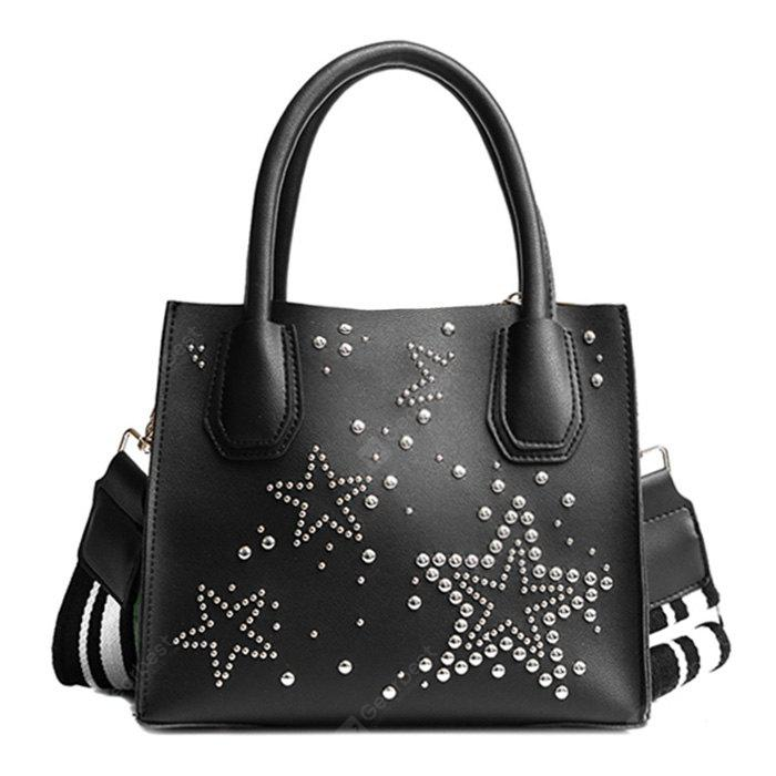 Rivets Stars Striped Tote Bag