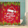 Christmas Hat Print Waterproof Shower Curtain - COLORMIX