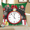 Christmas Clock and Baubles Pattern Decorative Pillow Case - COLORFUL
