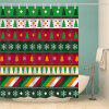 Christmas Tree Snowflake Print Waterproof Shower Curtain - COLORMIX