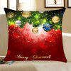 Christmas Tree Decorative Balls Print Throw Pillow Case - RED AND GREEN