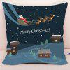 Christmas Sled Printed Decorative Pillow Case - COLORMIX