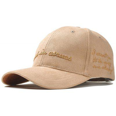 Outdoor Letter Embroidery Faux Suede Baseball Hat
